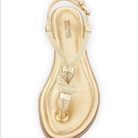 "daa878f425be MICHAEL KORS ""Holly"" Knotted Rope Sandals. M 5c40a1f100301c71ce278b77"